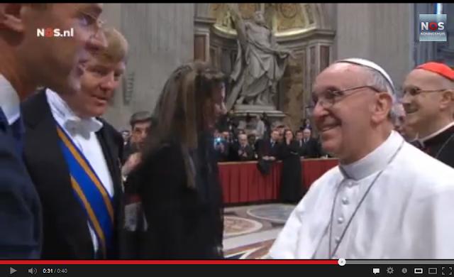 Rutte met paus Franciscus